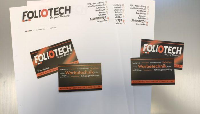 Briefbogen / Visitenkarten / Printprodukte